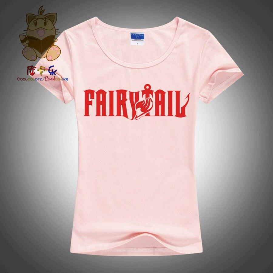 High quality daily wear tee shirt short sleeve t shirt various colors girls fashion anime t shirt fairy tail anime fans ac101