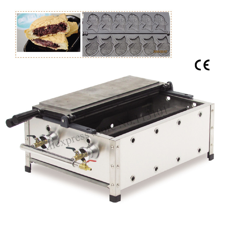 Commercial Taiyaki machine with 5 moulds Gas Fish Type Waffle Machine street snack machine Japanese Taiyaki Making MachineCommercial Taiyaki machine with 5 moulds Gas Fish Type Waffle Machine street snack machine Japanese Taiyaki Making Machine