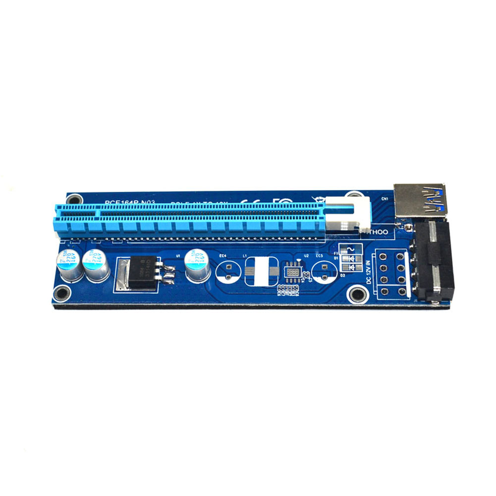 все цены на USB 3.0 PCI-E Express 1x to16x Extender Riser Card Adapter SATA Power Cable IDE Molex Power Supply for BTC Miner Machine онлайн