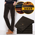 New 2016 Autumn Plus Velvet Pants European Style Famous Brand Corduroy Men Thicken Pants Outwear Mens Casual Straight Trousers