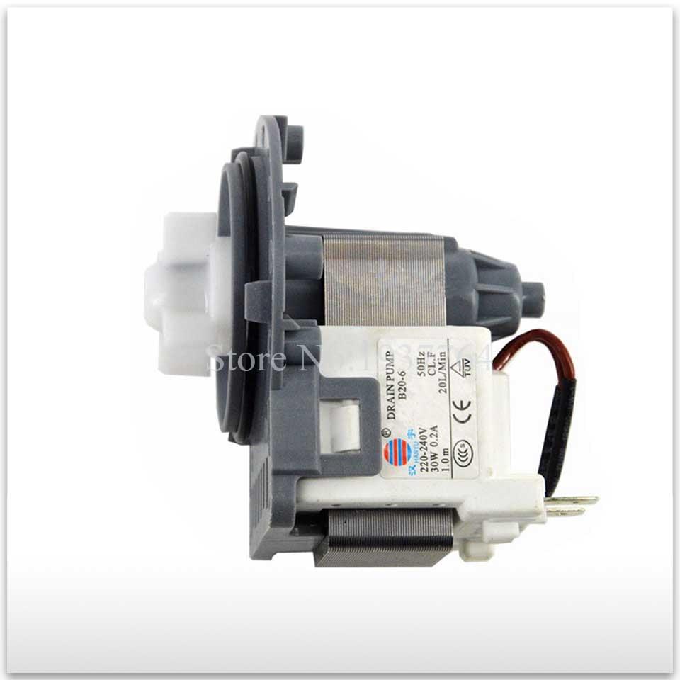 100% new for Original washing machine parts B20-6 B20-6A = DC31-00030A PSB-1 30w drain pump motor good working 220v 110v washing machine parts drain pump valve psb 1 17l min 35w