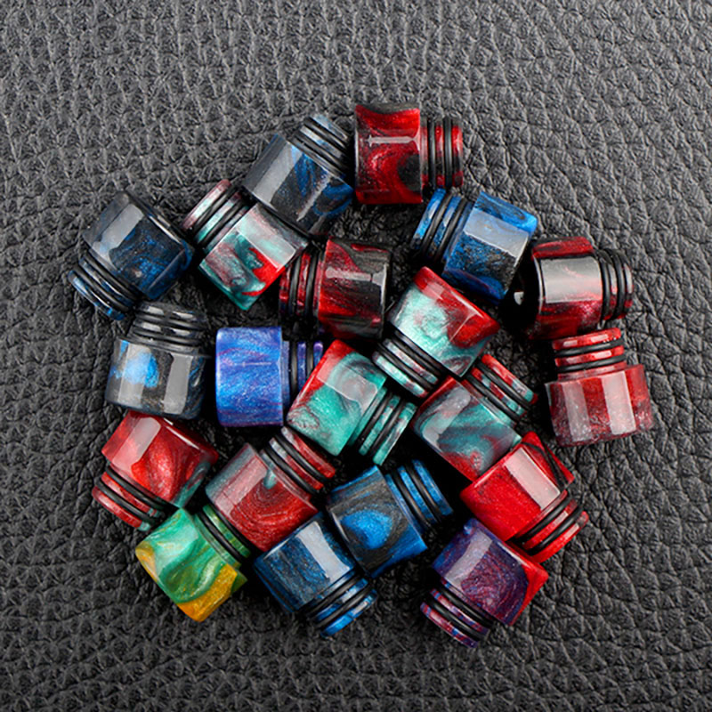 XFKM <font><b>510</b></font> drip tips Resin <font><b>Mouthpiece</b></font> for Electronic Cigarette <font><b>510</b></font> Thread <font><b>Mouthpiece</b></font> Tanks Epoxy RDA RTA Atomizer drip tip image