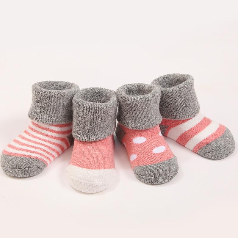 Treney Newborn Baby Socks Winter Keep Warm Terry Thick Cotton Socks 3 Pairs