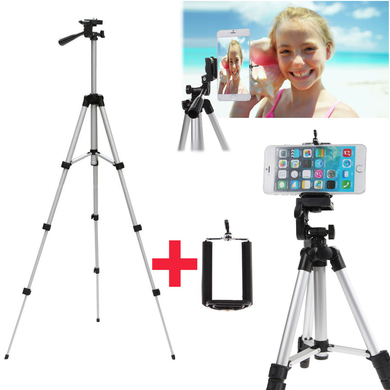 Universal Phone Holder+Professional Camera Stand Mount Tripod For iPhone 7 7 PLUS Pro 6 6S 5 5S SE 5C/For Xiaomi Red Note Mi5 universal cell phone holder mount bracket adapter clip for camera tripod telescope adapter model c