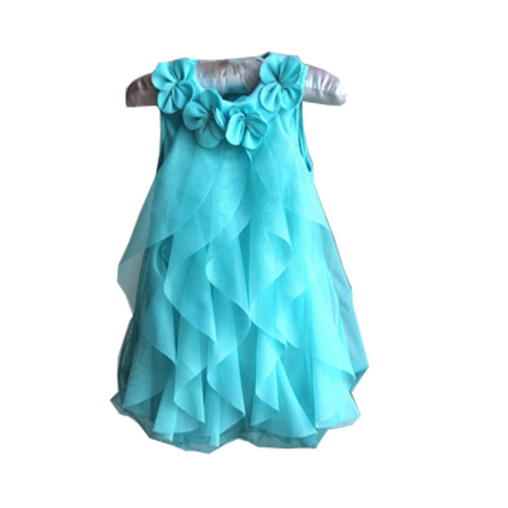 New Girls Birthday Party Dresses Jumpsuits Baby Girls Flowers Infant ...