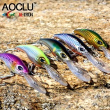 AOCLU wobblers Super Quality 5 Colors 10.7cm 10.5g Hard Bait Minnow Crank Fishing lures Bass Fresh Salt water 6# VMC hooks