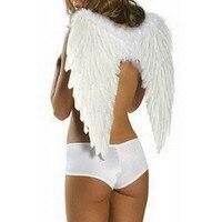 Goedkope koop zwarte witte veer engelenvleugels voor halloween party fancy rekwisieten dansvoorstelling accessoires MW02