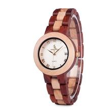 BOBO BIRD Women Quartz Watches relogio feminino Fashion Brand Ladies Dress Wristwatch Lady in Gift Box with Wood Strap