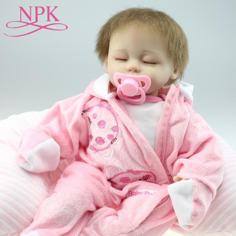 NPK Bebes Reborn Girl Dolls 45cm Soft Silicone Reborn Baby Dolls Toys Cartoon  Doll Kids Gift Bonecas Truly RealNPK Bebes Reborn Girl Dolls 45cm Soft Silicone Reborn Baby Dolls Toys Cartoon  Doll Kids Gift Bonecas Truly Real
