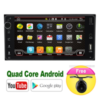 Quad Core car dvd android 8.1 double din gps navigation Wifi+Bluetooth+Radio for Toyota Hilux Camry Corolla Prado RAV4
