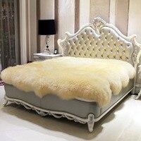 Lana materasso pelliccia di un pezzo di pelle di pecora metri copriletto coperta in pile ispessimento della pelliccia termica materasso pad copriletto