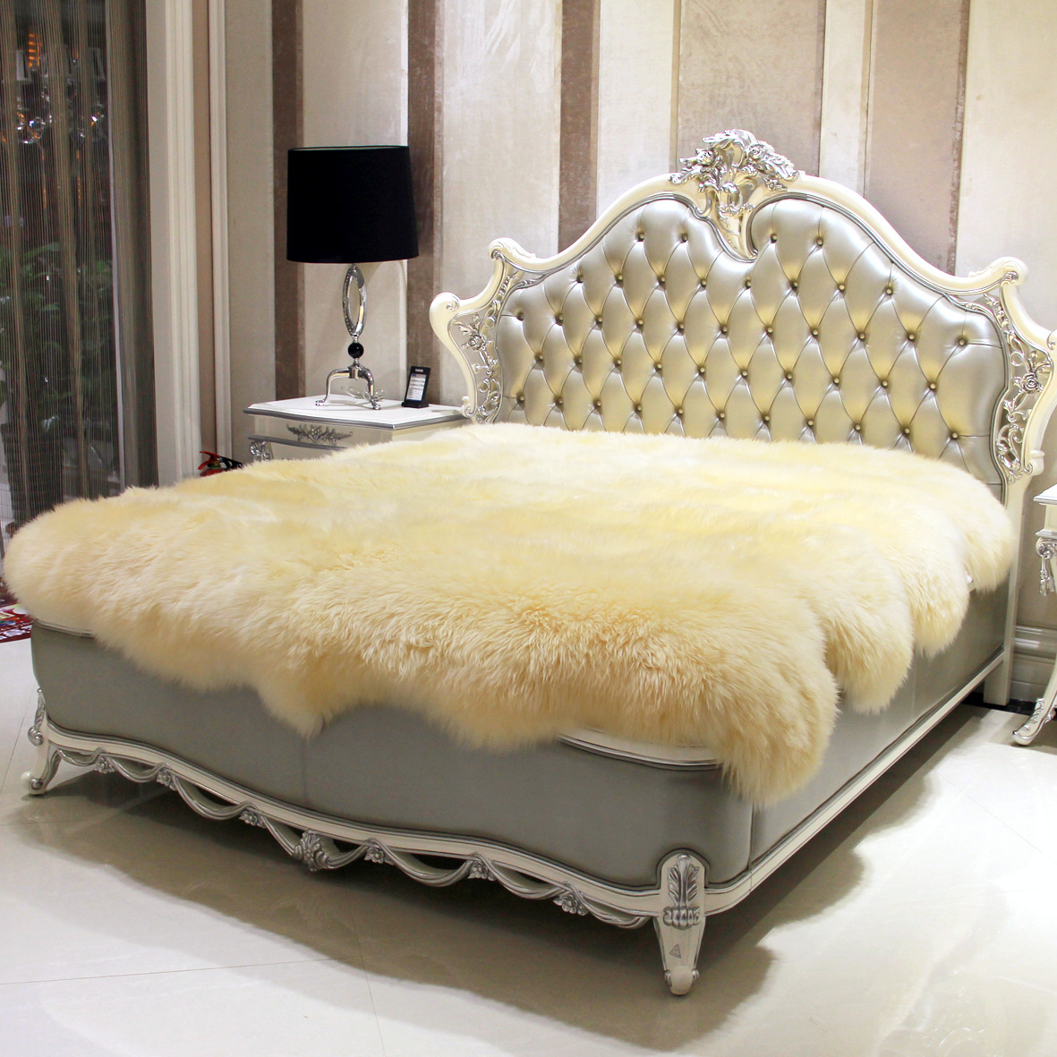 Wool Mattress Fur One Piece Sheepskin Meters Fleece Thickening Thermal Blanket Bed Cover Pad Bedspread In Covers Grippers