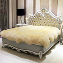 Wool Mattress Fur One Piece Sheepskin Meters Fleece Thickening Thermal Blanket Bed Cover