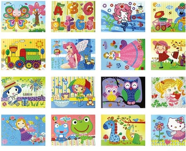 DIY Crystal Mosaic Sticker Art for Kids (10 Pieces)