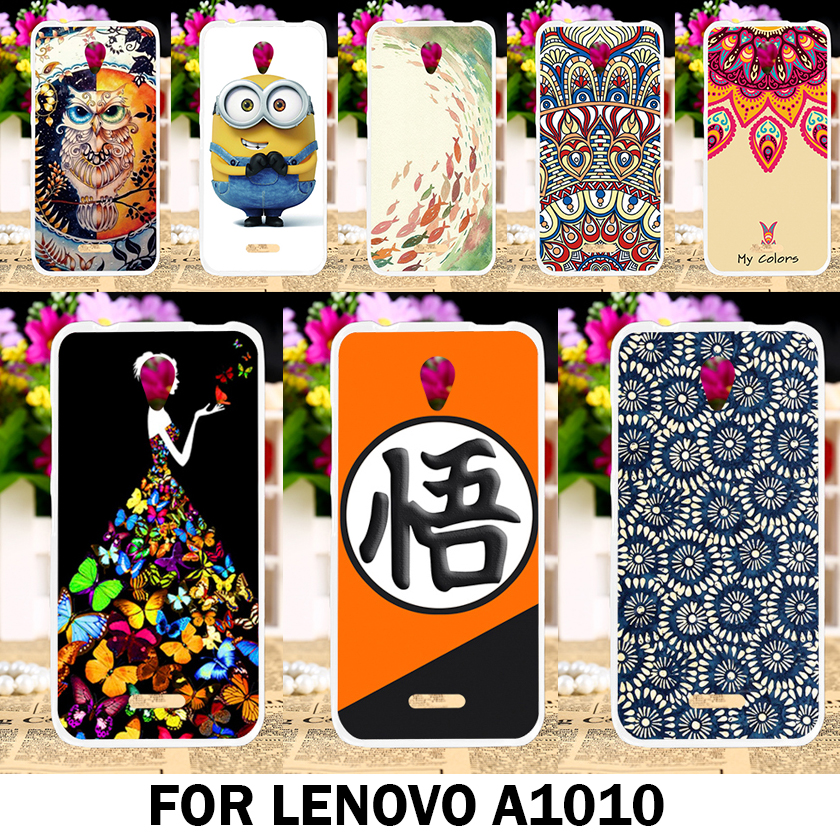 AKABEILA Soft Silicone Painted Mobile Phone Case For Lenovo Vibe B A2016 A1010 A20 A Plus APlus A1010a20 A 1010 Covers Shell