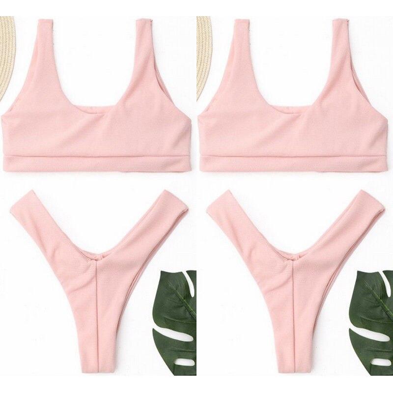 Black Friday Deals New 2018 Summer Womens Solid Bikini Set Swimsuit Women Bandage Push-up e Swimwear Bathing