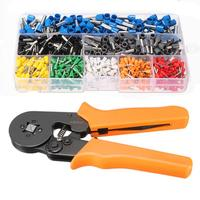 800Pcs Connector Terminal Kit Set With 175m Adjustable Ratcheting Ferrule Crimper Plier Crimping Tool