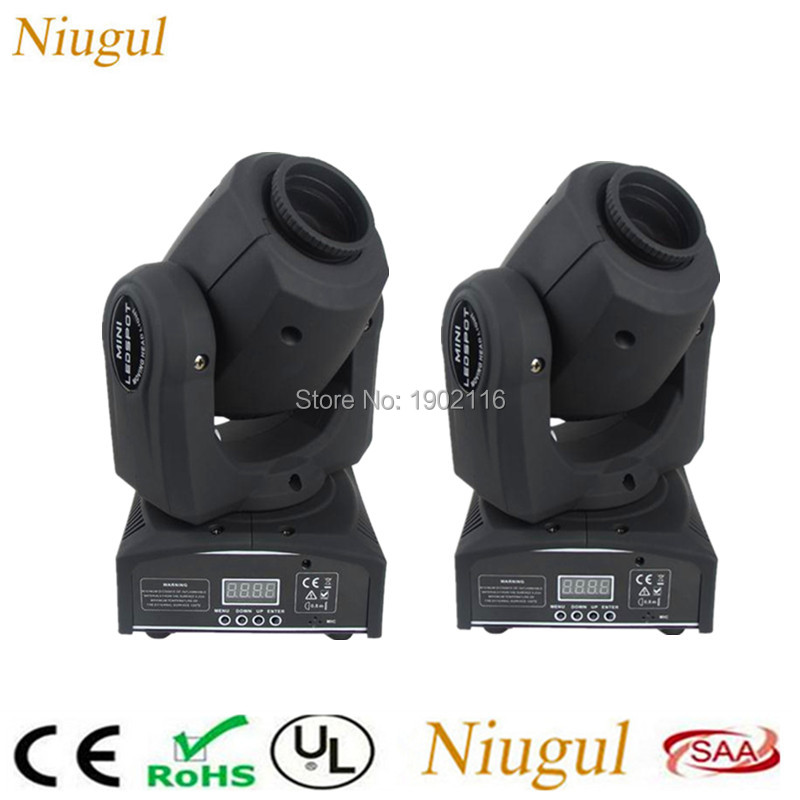 2pcs/lot 10W LED Spot moving head light 10w led patterns light DMX512 effect stage lights KTV Bar nightclub disco dj lighting
