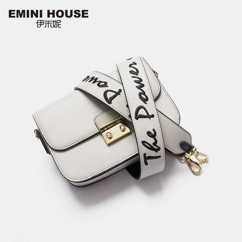 Mini casa alça de ombro acessórios de couro/náilon ajustável bolsa feminina cinta larga cinto acessório