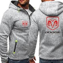 дешево!  Dodge Hoodies Куртка на молнии Мужское пальто Мужчины с принтом логотипа Толстовки с капюшоном