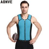 95ca52bd99c96 AONVE Slimming Belt Belly Men Body Shaper Vest Waist Trainer Slimming Tops  Shirt Ultra Sweat Neoprene