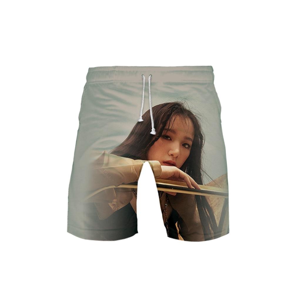 (G)I-DLE Korea Team 3D Printing Beach Shorts Casual Fashion Shorts Men Kpops Streetwear Summer Sportwear