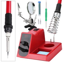 58W Soldering station High quality Adjustable Temperature Soldering Iron Soldering Station with magnifying glass