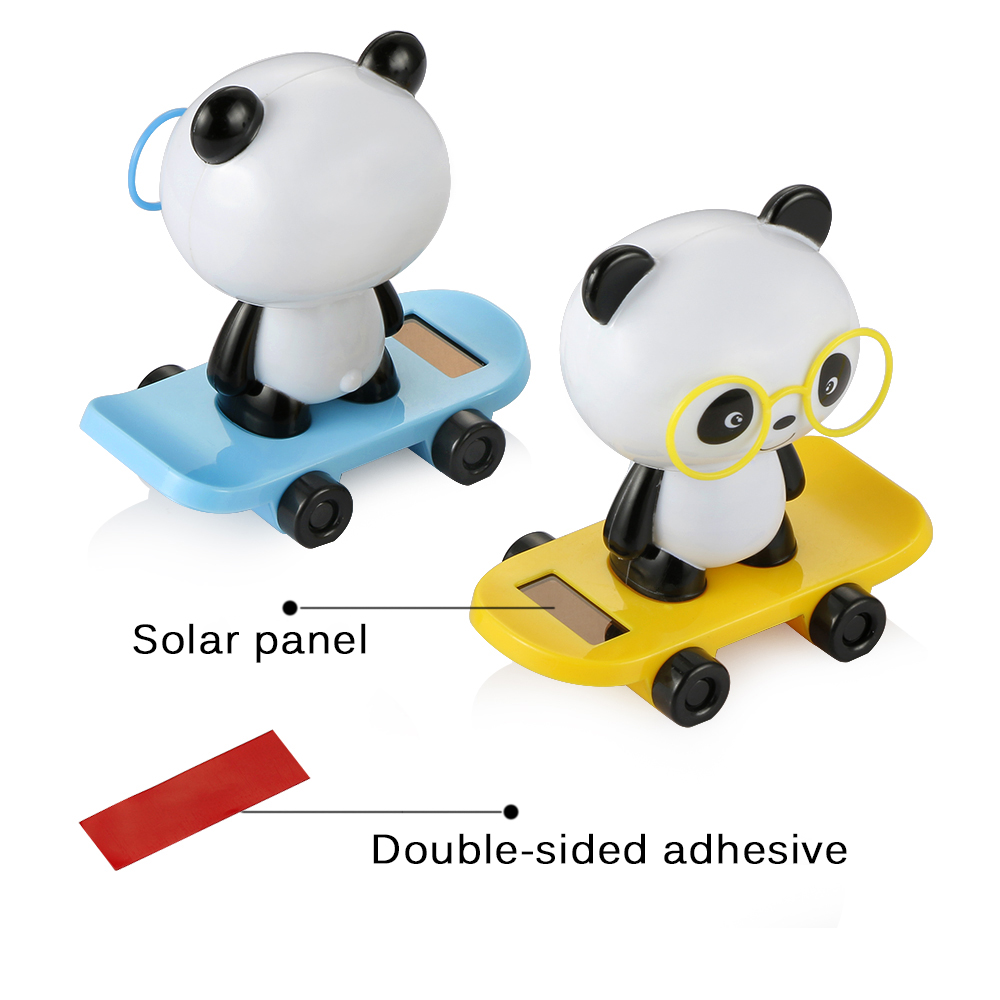 New Fashion Solar Swing Bear Car Ornaments Animated Bobble Dancer Toy Car Decor Kids Toys Gift Automobiles & Motorcycles