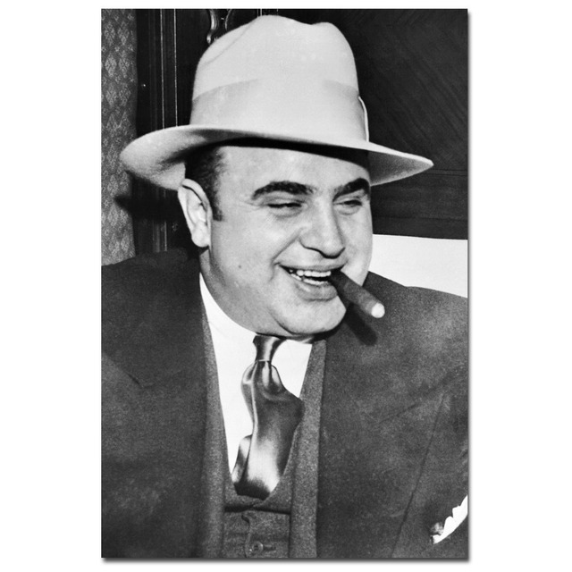 Al Capone Scarface Art Poster Canvas Art Cloth Fabric Print Wall Pictures  For Living Room Decor b7ec1146194