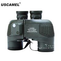 USCAMEL Military 10x50 HD Marine Binoculars Zoom Rangefinder Compass Telescope Eyepiece Waterproof Nitrogen Army Green