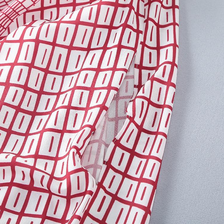 Casua Designer Manteau Turn D'été Bohême Col 2019 Manches Fashion Blanc Haute Rouge Midi De Lâche Nouveau down Robe Qualité Femmes qZCYw