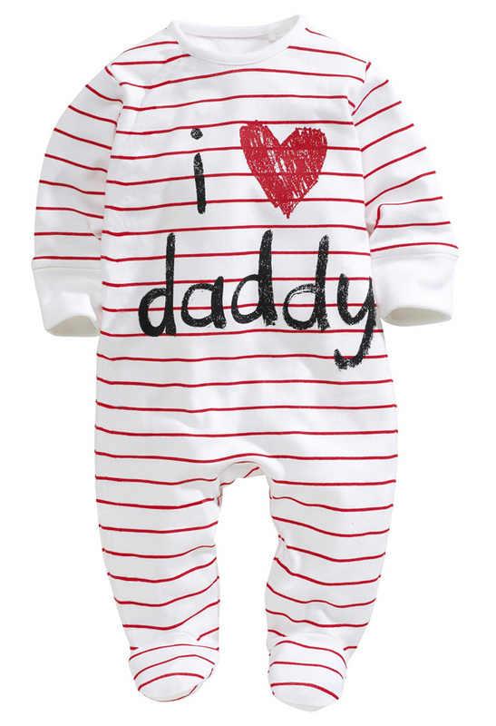 Детские комбинезоны 2016 г., костюм для новорожденных с надписью «I love mummy & daddy» комбинезон для девочек и мальчиков, одежда Зимний комбинезон, боди, детская одежда, Bebes