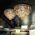 American wrought iron chandelier modern crystal restaurant sitting room the bedroom light creative RH Nordic ceiling light