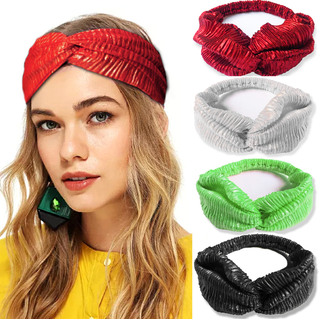 New Twist Knot Headbands for Women Cross Turban Elastic Hair bands flower  Headband Headwrap Girls Hairband Bandanas Accessories 7ac75f32b40