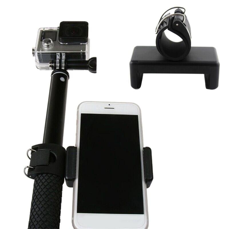 OOTDTY Phone Clip Adapter Mount Lock Holder for Monopod Selfie Stick GoPro Hero 5 4 3+