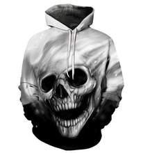 YFFUSHI 2019 Male 3d Hoodies Skull Print 3D Pullovers Streetwear 6XL Sweatshirt Men Hooded Casual Cool Tops Oversize