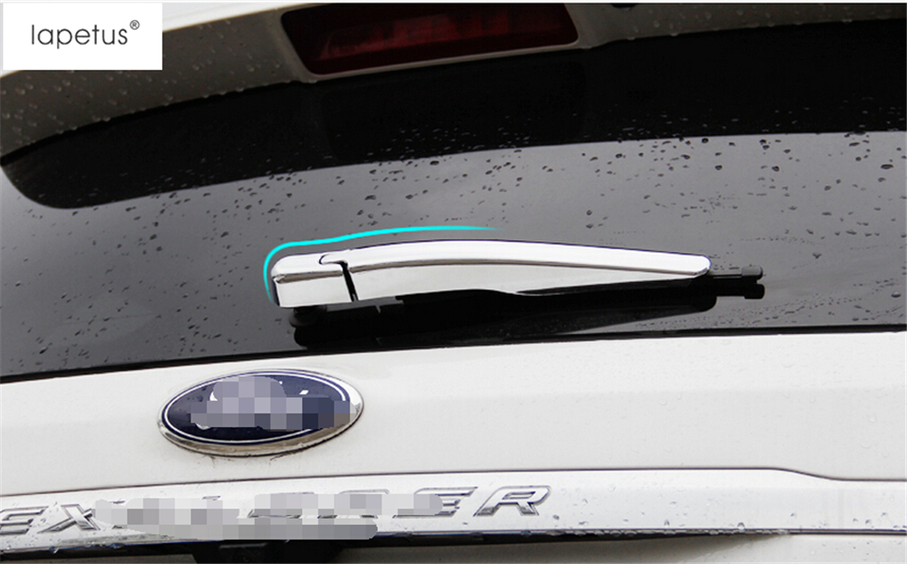 ABS ! Accessories For Ford Explorer 2013 - 2017 Rear Windshield Window Wiper Protector Molding Cover Kit Trim