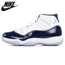 best sneakers d911d 7695c Nike AIR JORDAN 11 CONCORD GS Aj11 chaussures de basket femme, blanc & noir,  absorption des chocs antidérapant résistant à l'usu.