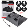 Multi-function Cooling Fan Cooler 2x Controller Charging Stand with 4 usb Ports+4x Joystick Thumb Stick Cap for XBOX One Console