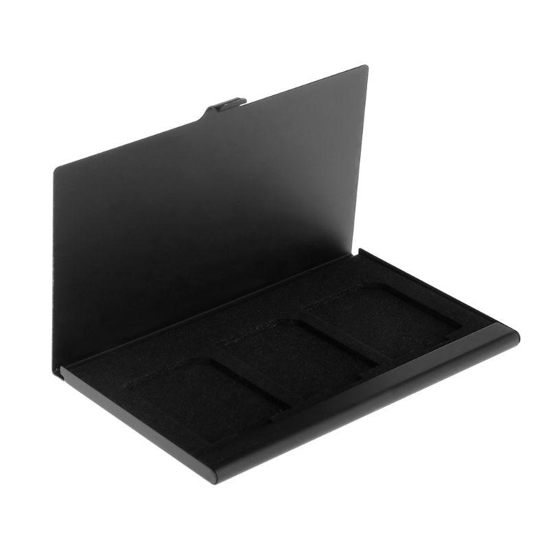 1 Stück Aluminium Koffer Box Schicht Memory Secure Digital Karte Schutzhülle Halter Shock-proof Brieftasche Speicher Karte Box Ideales Geschenk FüR Alle Gelegenheiten