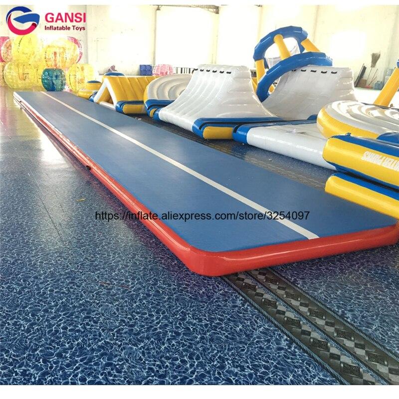 Offre spéciale 8x2x0.2 m piste d'air gonflable tapis de gymnastique de sol tapis de gymnastique gonflable de haute qualité