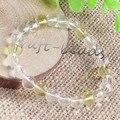 UMY Natural Clear Quartz Citrine Crystal 8 mm Round Beads Crystal Bracelet Fashion Jewelry