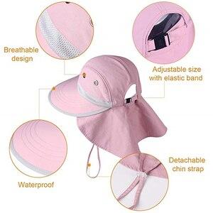 Image 3 - FURTALK dzieci kapelusz na lato dziewczyny kapelusz przeciwsłoneczny dla chłopców z klapą na szyję ochrona UV Safari kapelusz dziecko dziecko lato czapka podróżna 2 12 lat