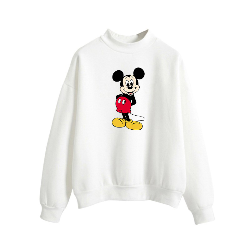b9c60b4da Mickey Mouse Cute Kawaii Cartoon Print Women Pink Hoodies Cotton Tracksuit  Sweatshirt Brand Clothing Women Hoodies
