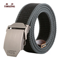 2016 Male automatic buckle strap casual knitted jeans belt canvas belts for men gifts tactical belt 160cm