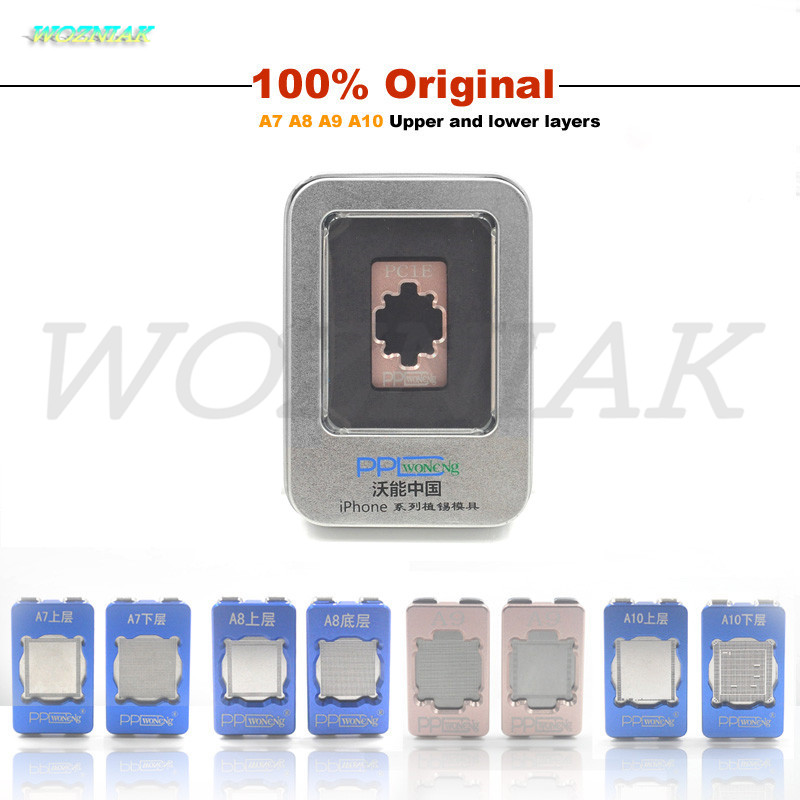 Best For iphone 4 5 5s 6 6s 7 plus 6sp A7 A8 A9 A10 CPU HDD baseband Reball Stencil CPU plant tin mold Tin plant Mesh mould new chip bga reballing stencil for iphone 5 6 7 a7 a8 a9 a10 cpu ram upper lower reball tool stencils ppd planted tin mold set