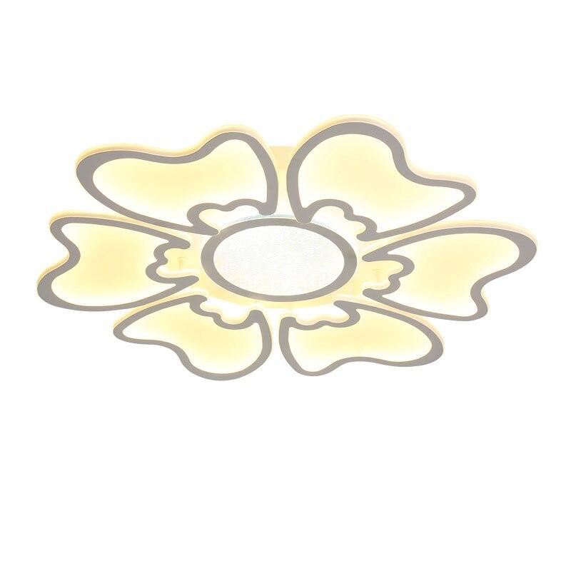 Modern Led Chandelier Ceiling With Remote Control Living Room Bedroom Flower Acrylic Lamp Light Fixture Decor Home Lighting 220V modern crystal bed room wall lamp led sconces 110v 220v living room light home deocrationg lighting fixture free shipping