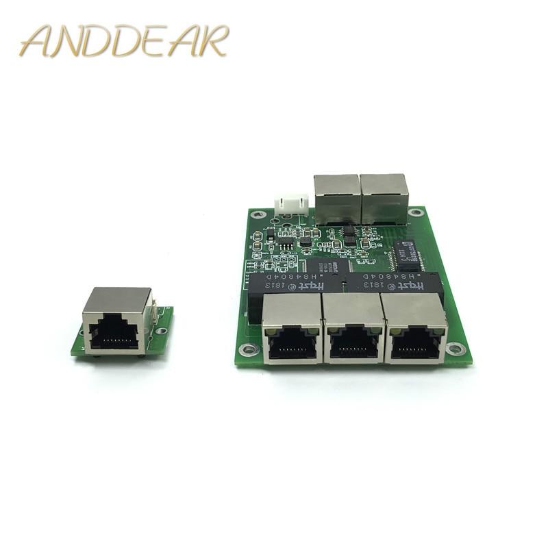 2019 Mode 5-port Gigabit Schalter Modul Ist Weit Verbreitet In Led Linie 5 Port 10/100/100 0 M Kontaktieren Port Mini Schalter Modul Pcba Motherboard Exquisite (In) Verarbeitung