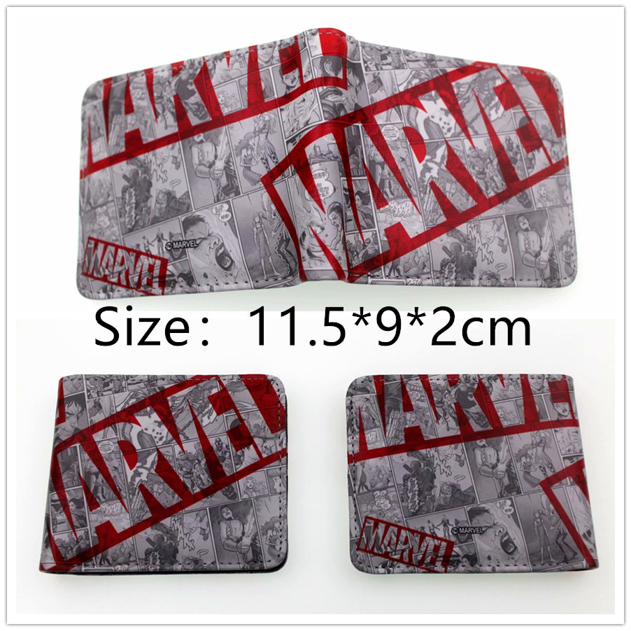 New Design Marvel Cartoon Wallet Short Purse Women Fashion Handbags Young Men Coin Purse Student Gift все цены