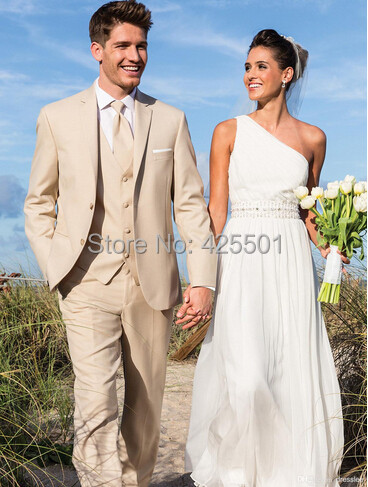 Fashion Suits Beach Wedding Tuxedos For Men Custom Made Linen Suit Tailor Groom Cool